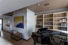 15-20万90平米三室三厅北欧风格书房效果图