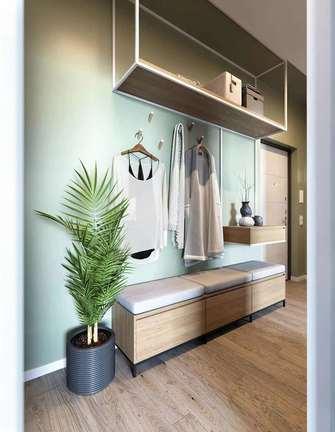 10-15万90平米三室两厅美式风格玄关效果图