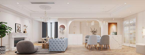 100平米三室两厅法式风格客厅设计图