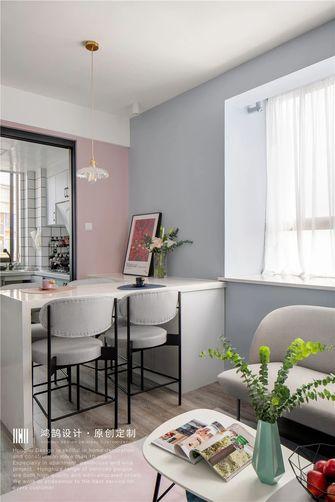 富裕型60平米一室一厅北欧风格厨房图片