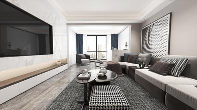 豪华型140平米四室一厅现代简约风格客厅效果图