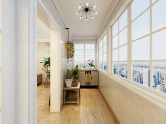 140平米三室两厅混搭风格阳台图片大全