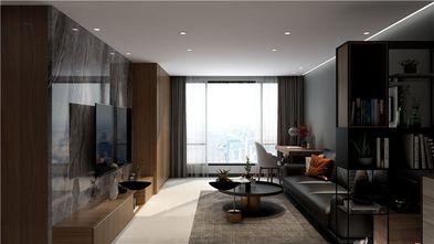 富裕型80平米三室三厅现代简约风格客厅装修图片大全