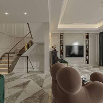 140平米三美式风格客厅图片