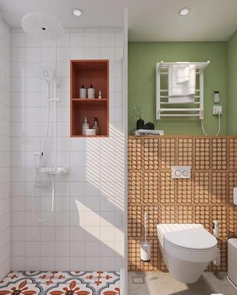 经济型130平米三室一厅东南亚风格卫生间图