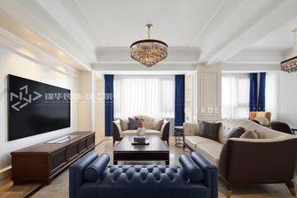 140平米四轻奢风格客厅效果图