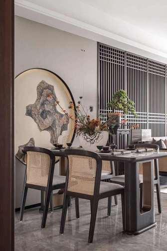豪华型140平米三室两厅中式风格餐厅装修案例