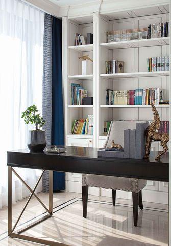 富裕型110平米一室一厅轻奢风格书房图片大全