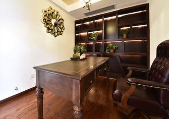 富裕型120平米三室两厅中式风格书房装修案例