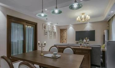 豪华型120平米三室一厅美式风格餐厅装修图片大全