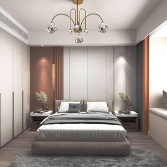 富裕型130平米三室两厅轻奢风格卧室图