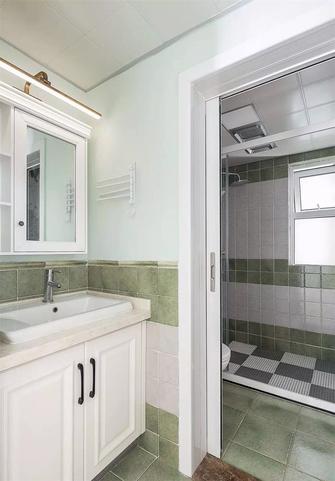 富裕型80平米三室一厅美式风格卫生间装修效果图