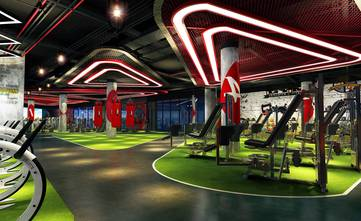 140平米公装风格健身房装修效果图