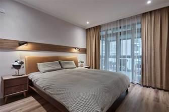 120平米三室四厅现代简约风格卧室效果图