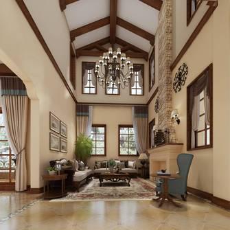 豪华型140平米别墅地中海风格客厅装修效果图
