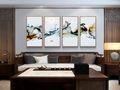120平米三室一厅中式风格客厅欣赏图