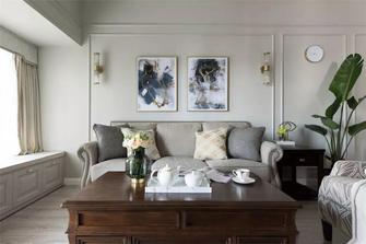 富裕型90平米三室一厅美式风格客厅设计图