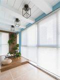130平米三室两厅美式风格阳台设计图