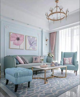 富裕型90平米三室两厅法式风格客厅图片大全