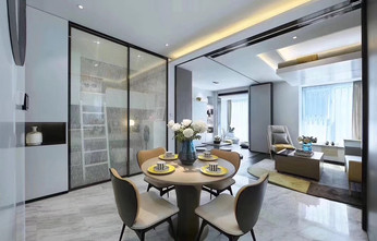 15-20万140平米三室两厅现代简约风格厨房欣赏图