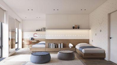 富裕型140平米三室一厅日式风格卧室效果图