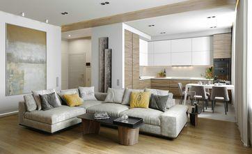 富裕型120平米三室两厅北欧风格客厅图片大全