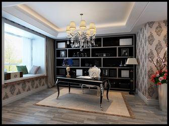 140平米三室一厅现代简约风格书房图片