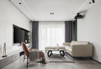 富裕型90平米三室三厅现代简约风格客厅设计图