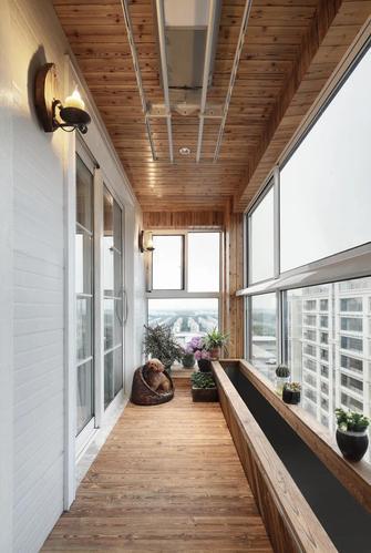 100平米一居室北欧风格阳台图