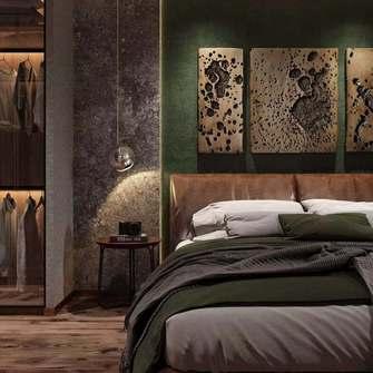 15-20万60平米一室一厅工业风风格卧室图片大全