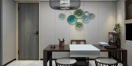 豪华型140平米复式美式风格书房图