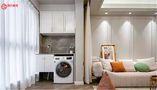 豪华型80平米三室一厅美式风格阳台装修效果图