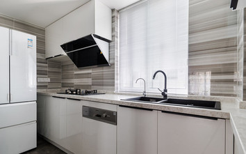 10-15万130平米四室一厅工业风风格厨房图