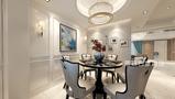 豪华型140平米别墅欧式风格餐厅效果图