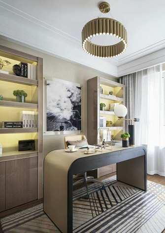 5-10万90平米三室两厅现代简约风格书房图片