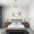 富裕型140平米别墅北欧风格卧室图片