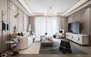 经济型110平米三室两厅轻奢风格客厅装修效果图