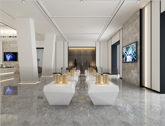 140平米一居室公装风格其他区域图片