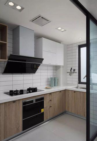 100平米三室两厅现代简约风格厨房装修图片大全