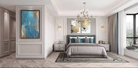 豪华型140平米三室两厅法式风格卧室装修案例