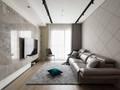 100平米三现代简约风格客厅装修效果图