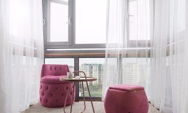 经济型100平米三室一厅美式风格阳台图片