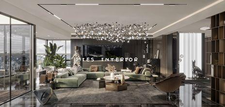 140平米四室三厅现代简约风格客厅装修效果图