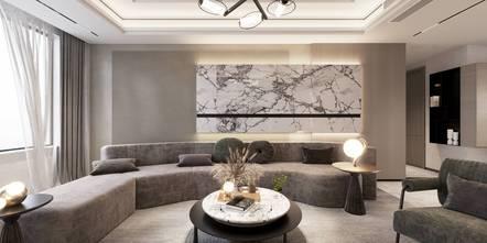 豪华型140平米三室三厅现代简约风格客厅装修效果图