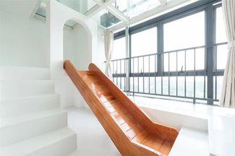 120平米复式混搭风格楼梯间图