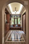 140平米别墅中式风格走廊设计图