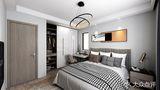 110平米三室一厅混搭风格卧室图