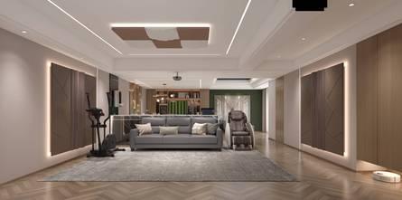 豪华型140平米四室两厅美式风格影音室设计图