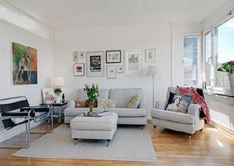 5-10万80平米一室一厅北欧风格客厅装修案例