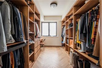100平米三室一厅日式风格衣帽间设计图